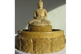 Fountain Buddha Seated in stone for meditation room