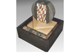 Fountain Disc Mosaic Zen Water Feature for indoors